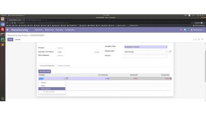 MRP Production component edit, remove