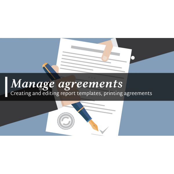 Manage agreements (contracts) Odoo 12