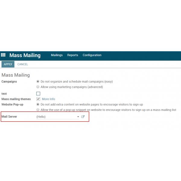 Mass Mailing Choice Outgoing Server